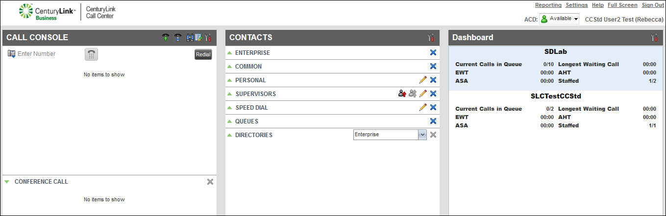 voip contact center contacts pane personal directory