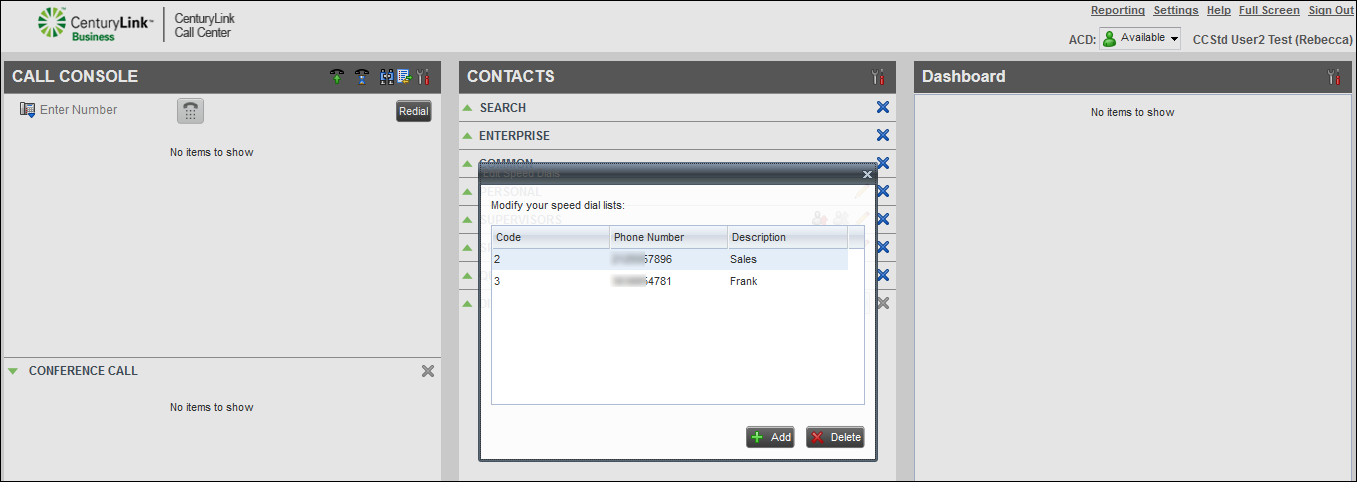 voip contact center contacts pane speed dial add contac.